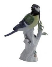 Meissen Porcelain Bird Figurine - Great Titmouse